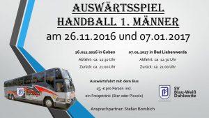Ankündigung: Bus zum Auswärtspiel