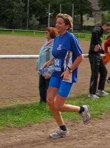 Rosi beim Lauf
