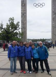 Detlef, Martina, Rosi, Karin und Jürgen nach dem Lauf  (Foto: unbekannt)