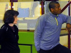 Zwei Trainer bei der Weiterbildung (Foto:U. Neubauer)